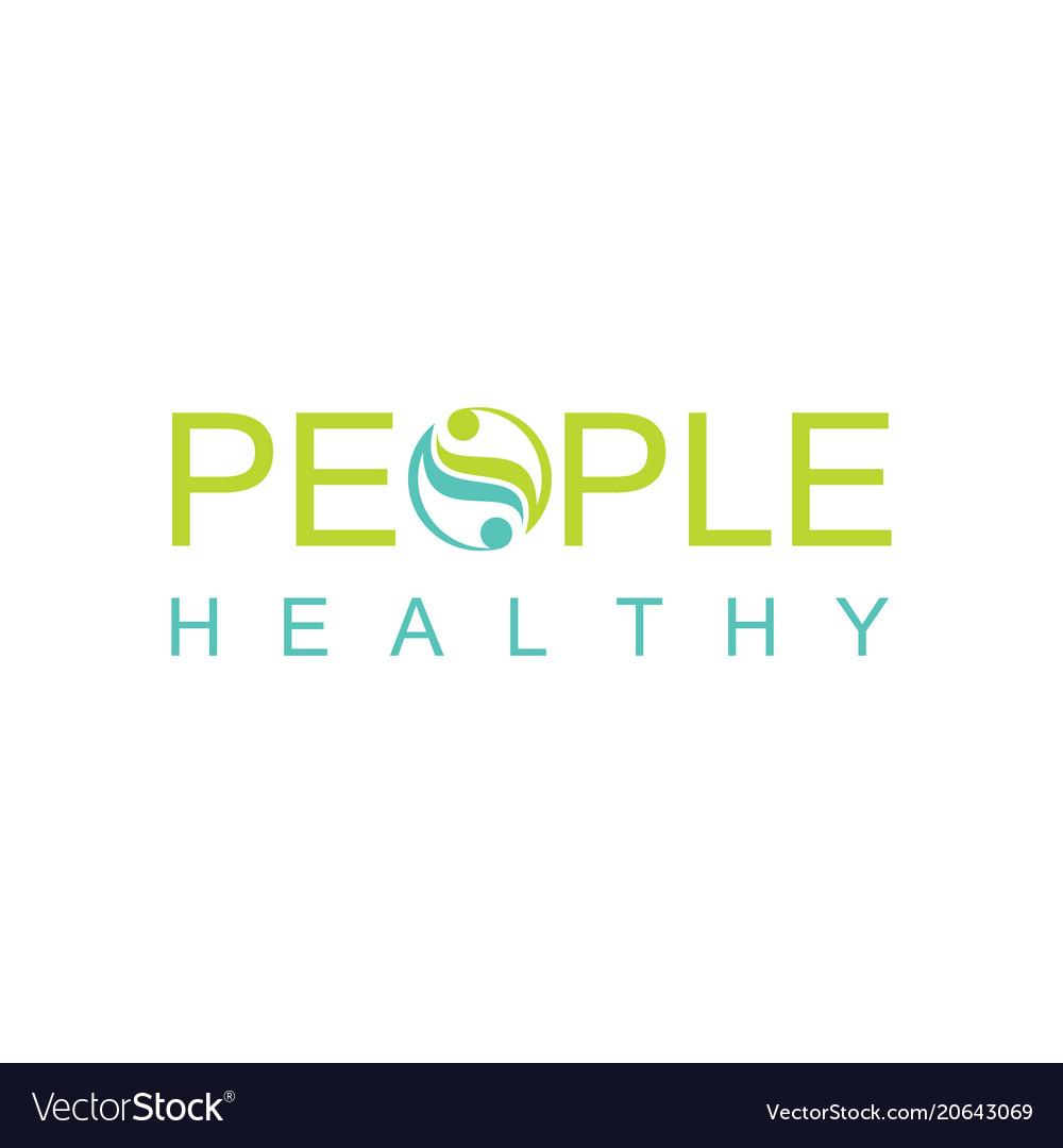 Green people heakthy logo