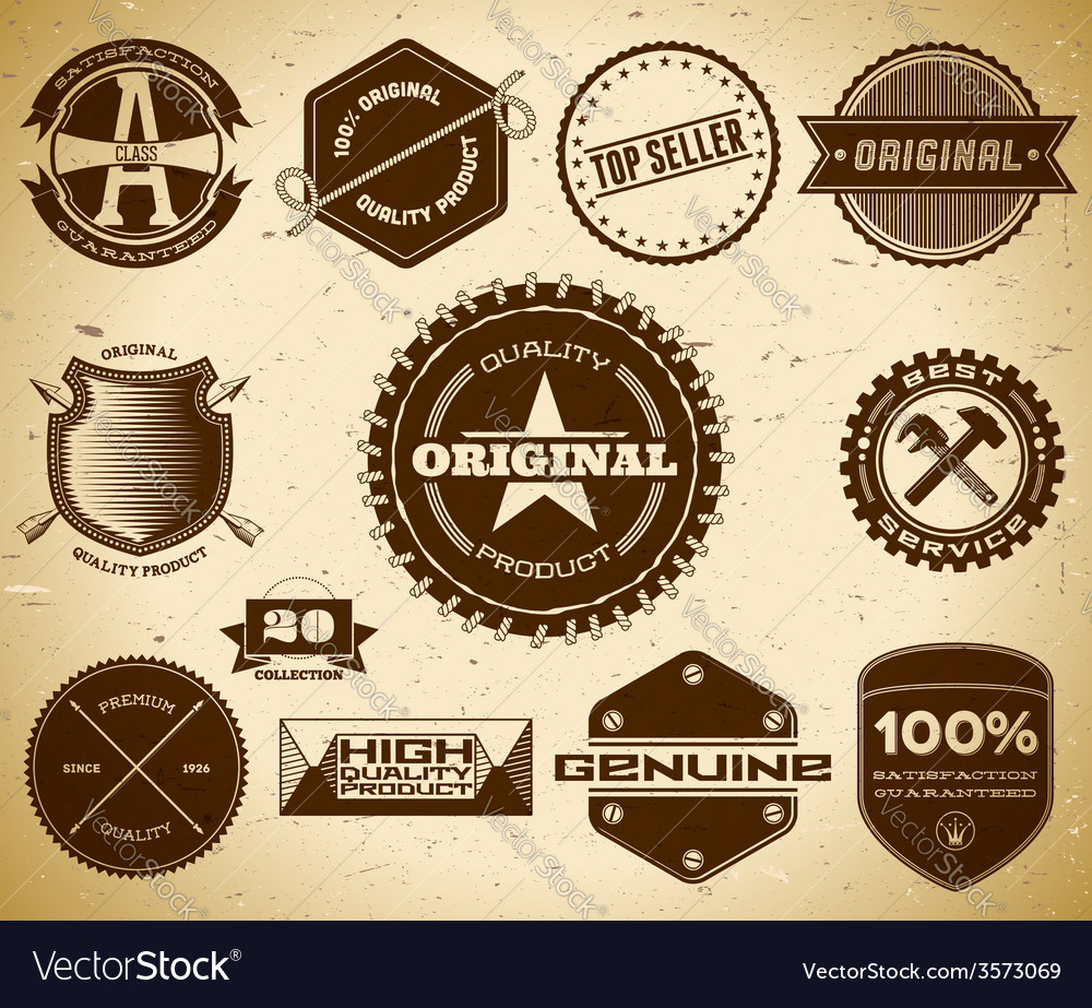 Vintage labels Collection 20 vector image
