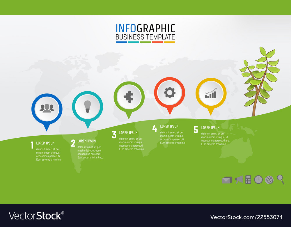 business infographic milestone template mountain vector image