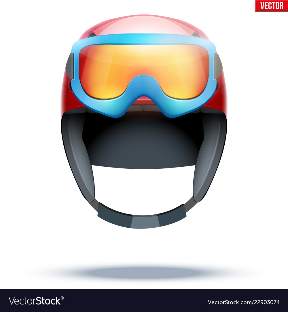 5bedaa2ae48 Classic ski helmet with snowboard goggles Vector Image