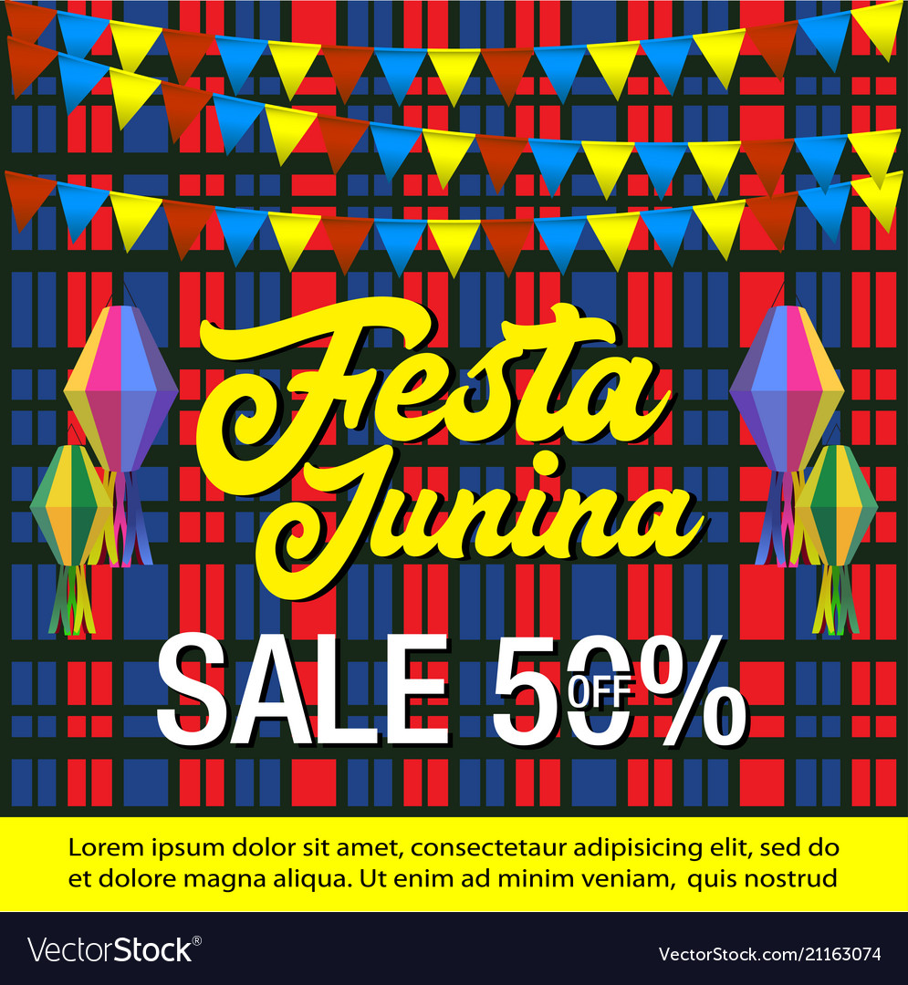 Festa junina sale background