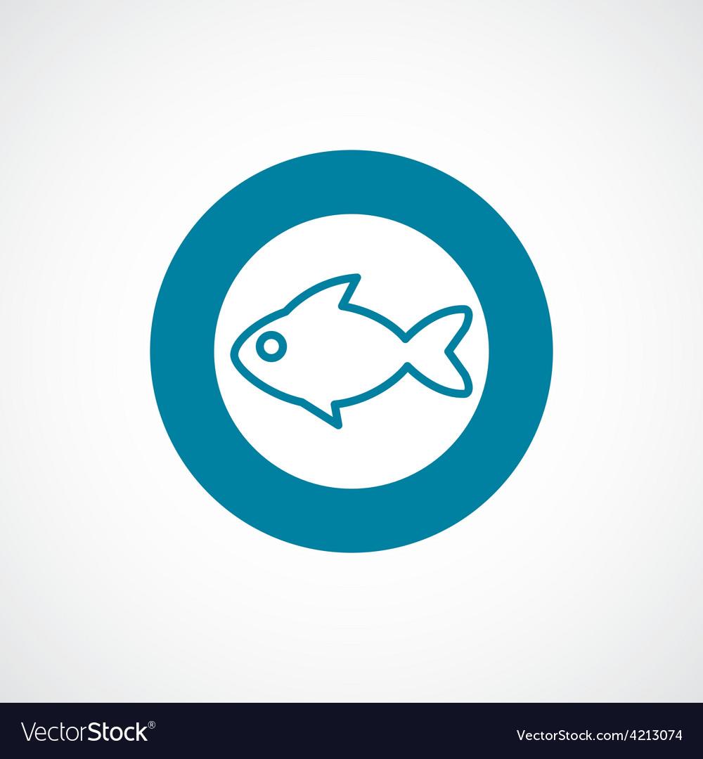 Fish icon bold blue circle border