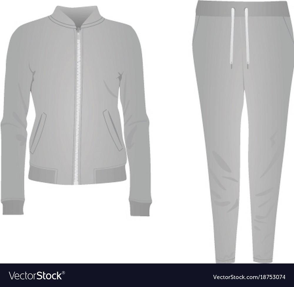 Grey women tracksuit