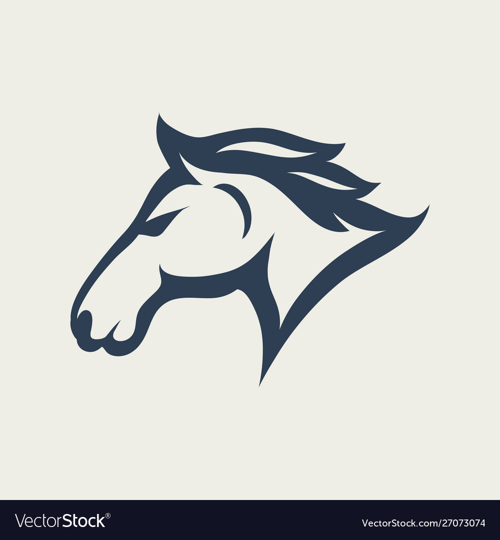 Horse logo design icon