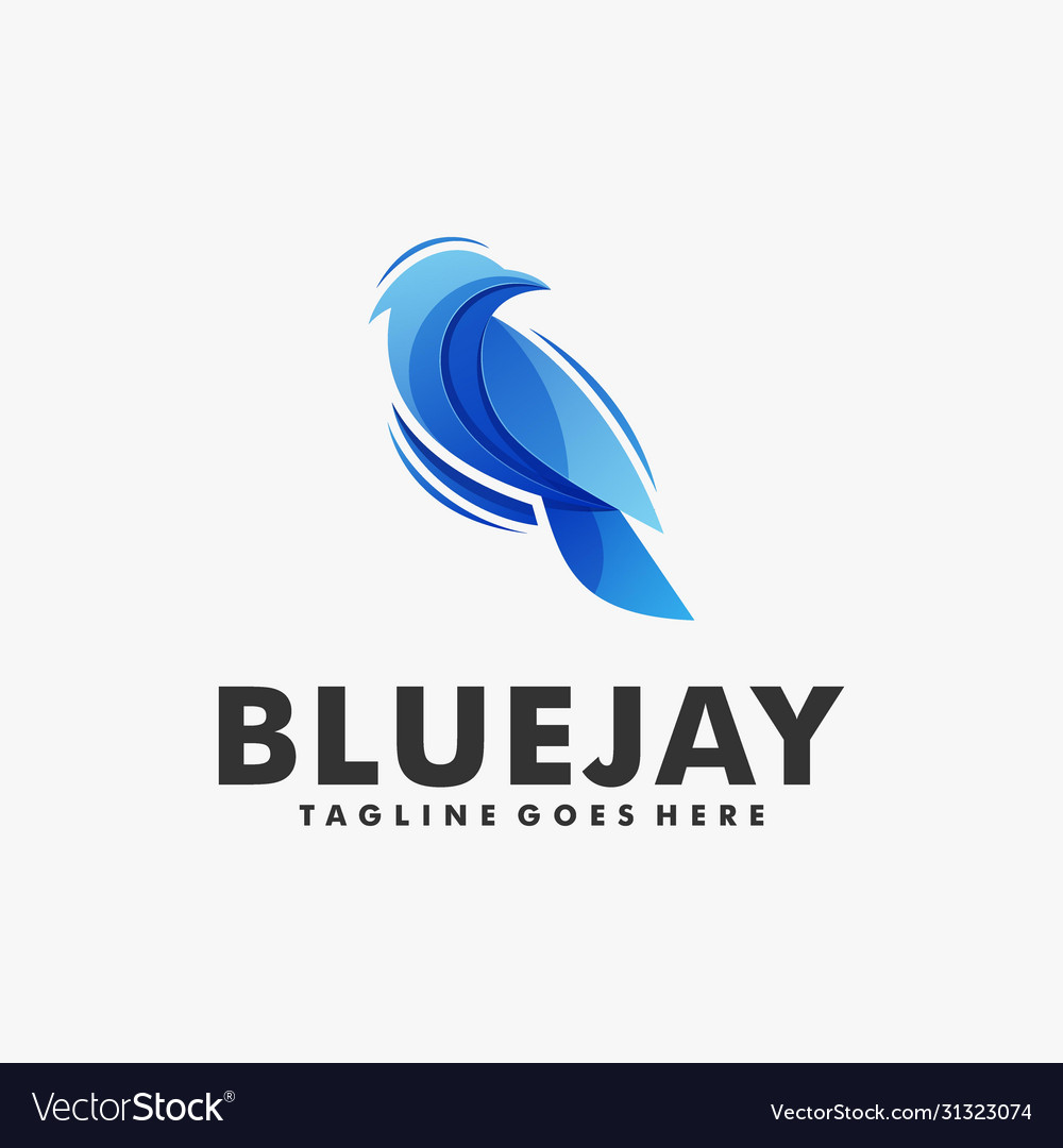 Logo bluejay gradient colorful style