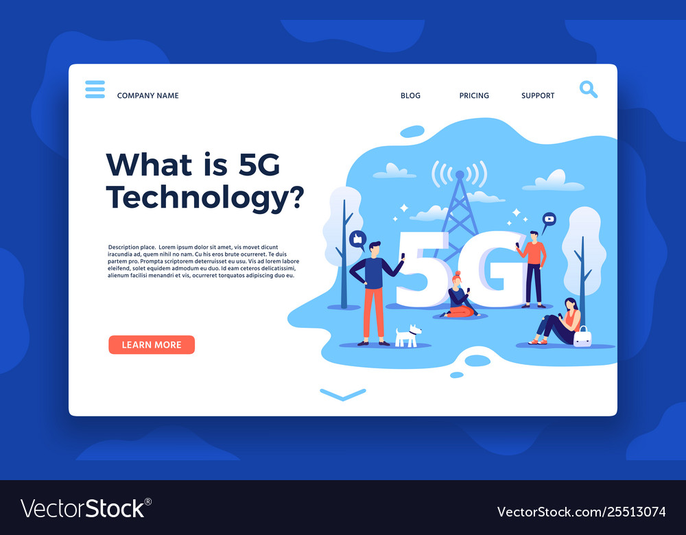 Network 5g landing page fast internet wireless