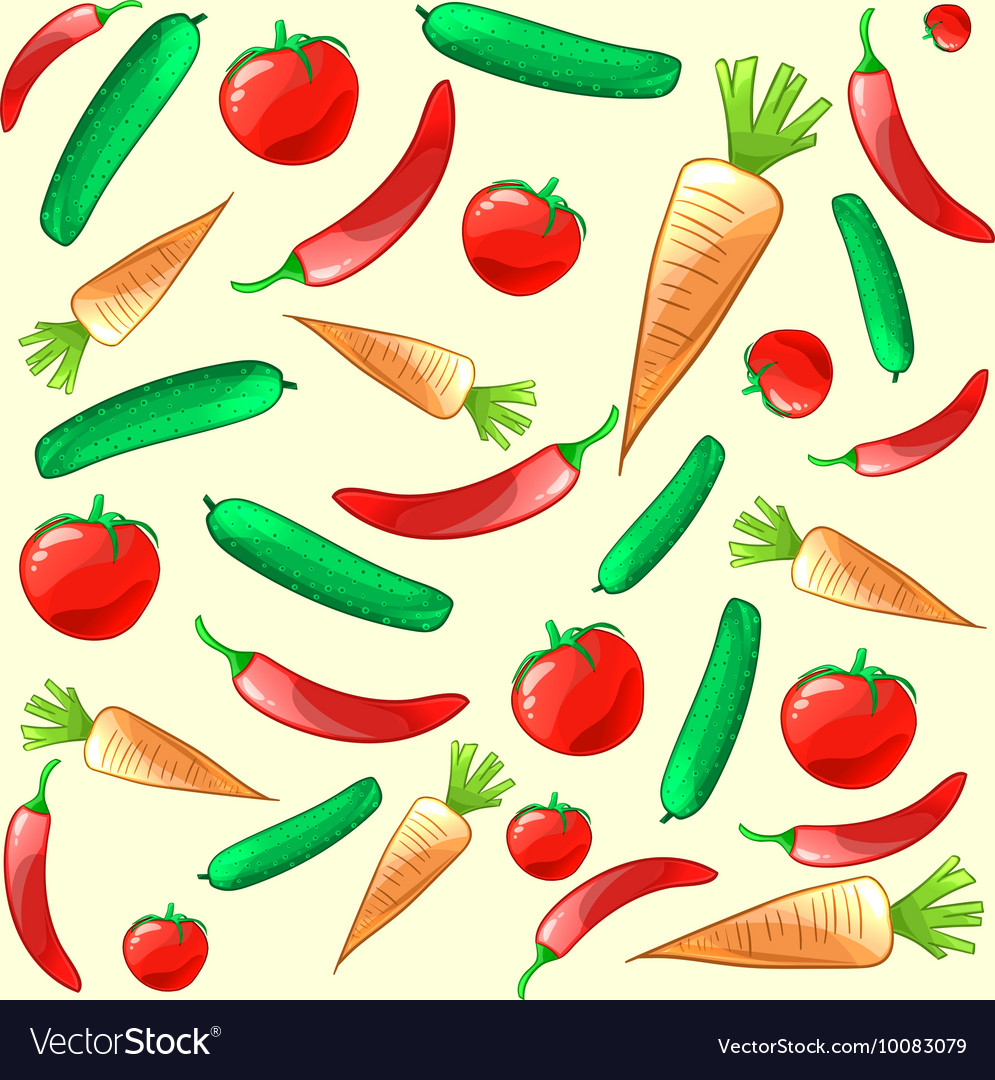 Colorful ripe fresh vegetables pattern background
