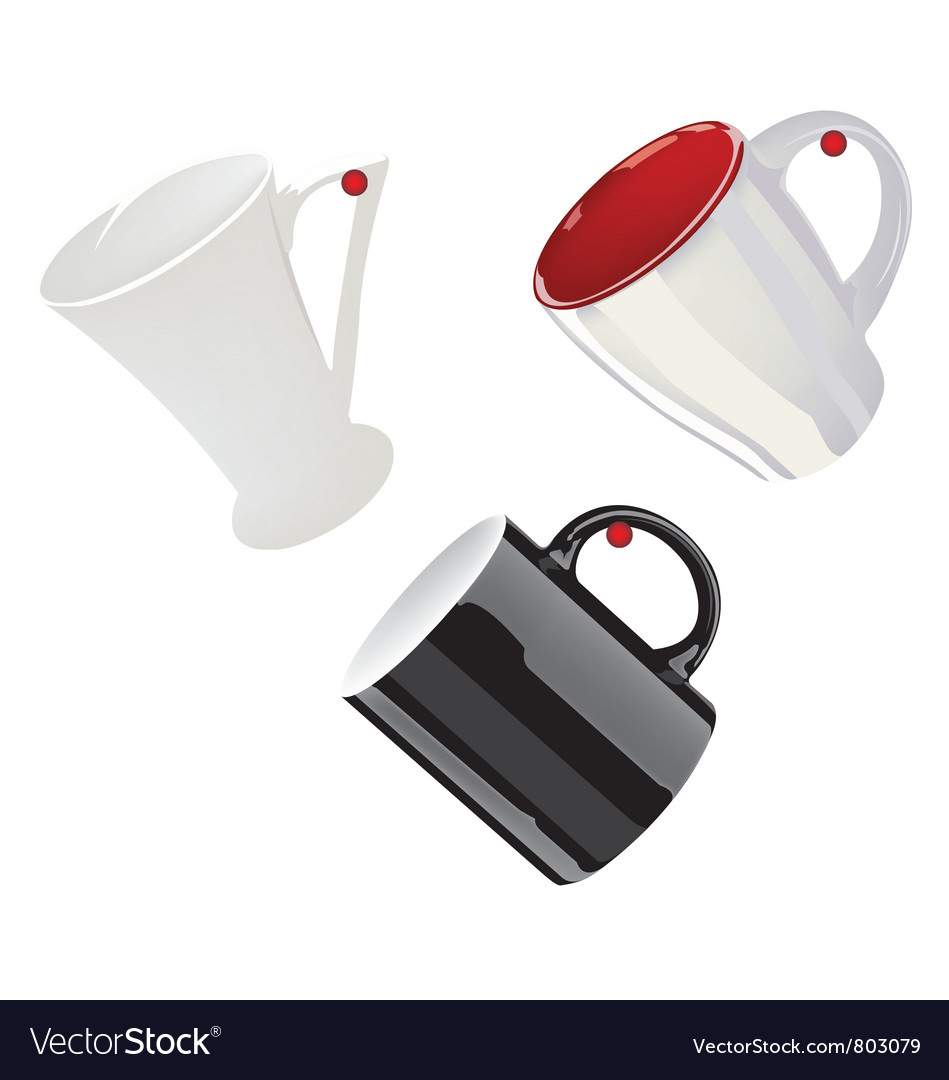 Different color cup vector image