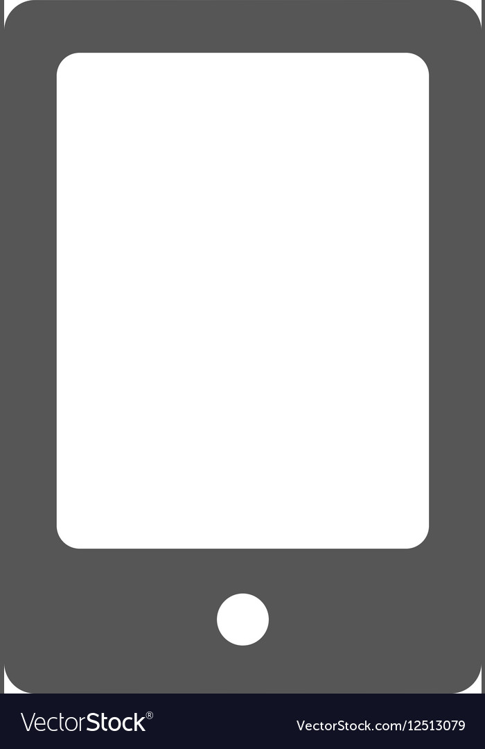 Grey mobile phone icon
