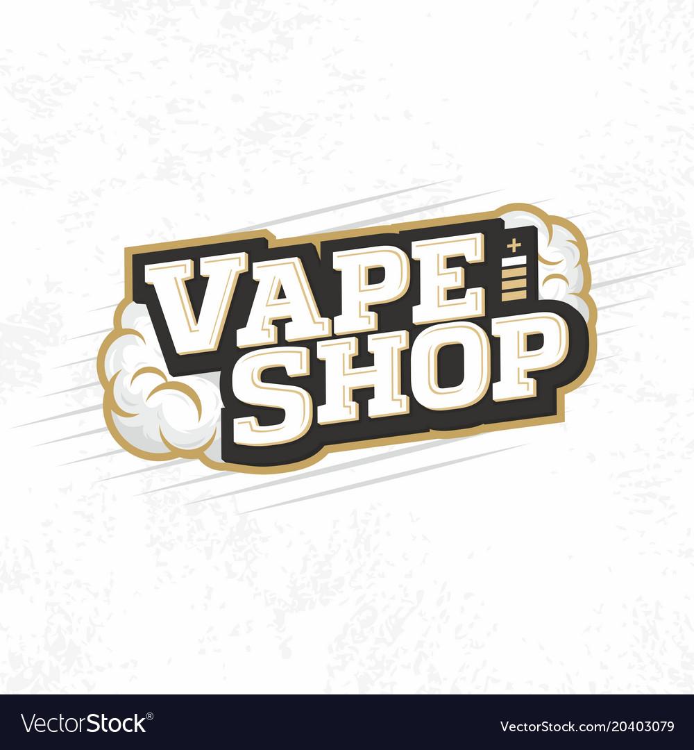 Modern professional logo emblem vape shop vector image
