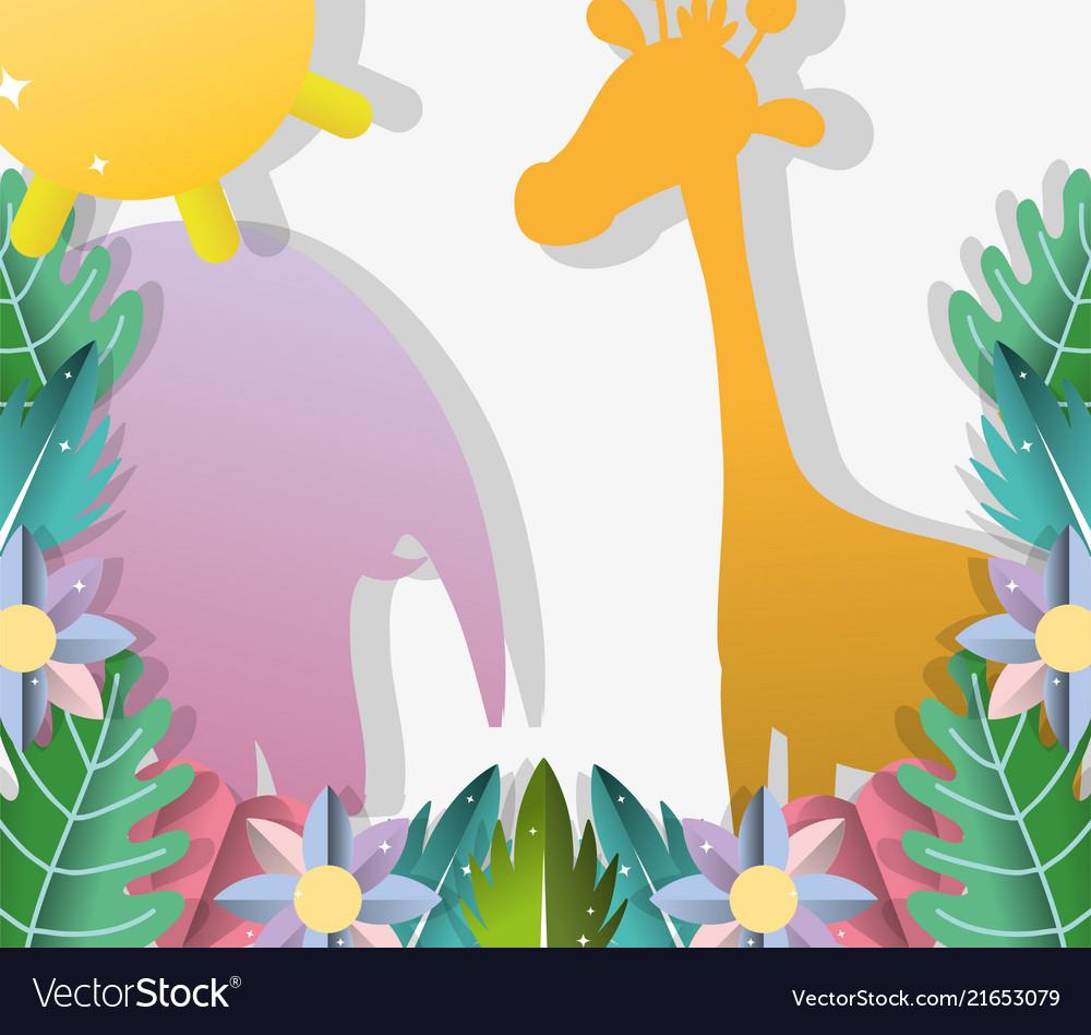 Paper art animals