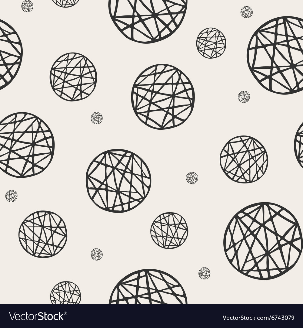 Seamless pattern with sketch circles