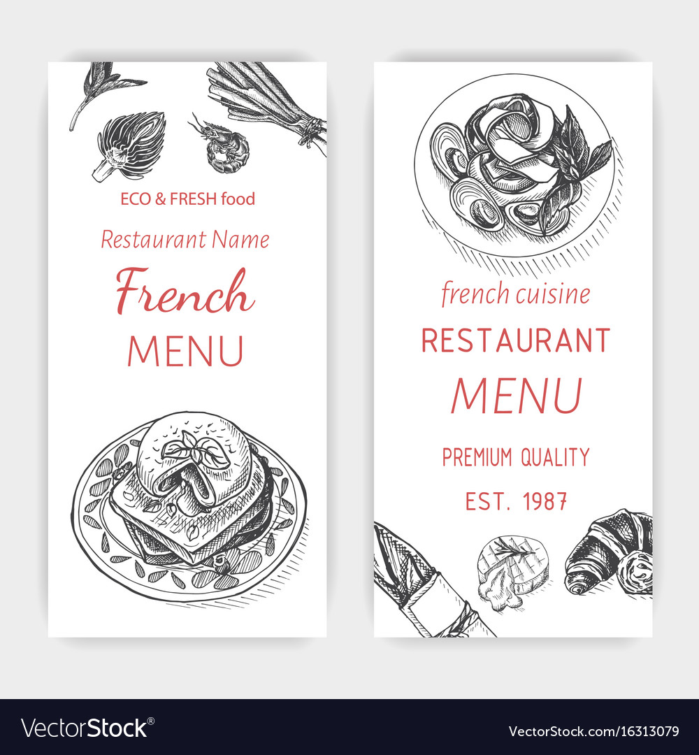 Sketch - breakfast card menu