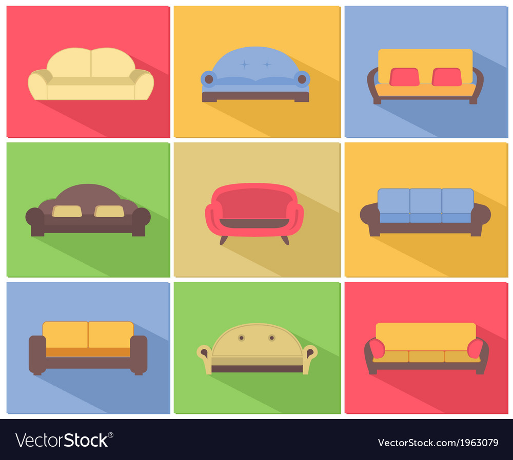 Sofas and Couches Icons Set