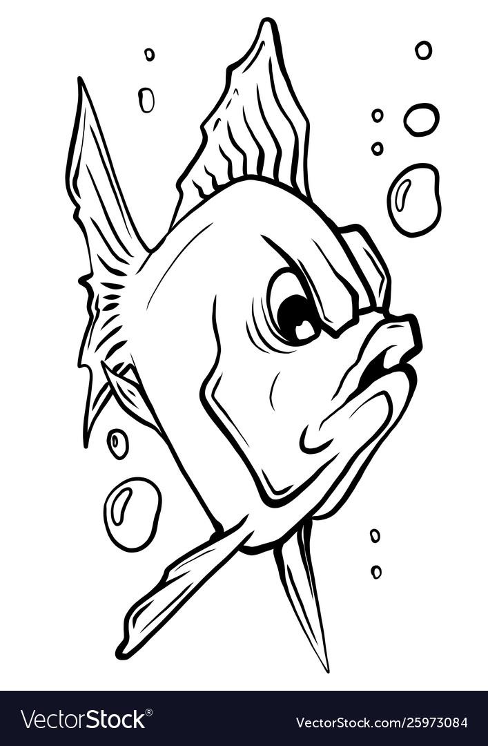 Aquarium fish silhouette