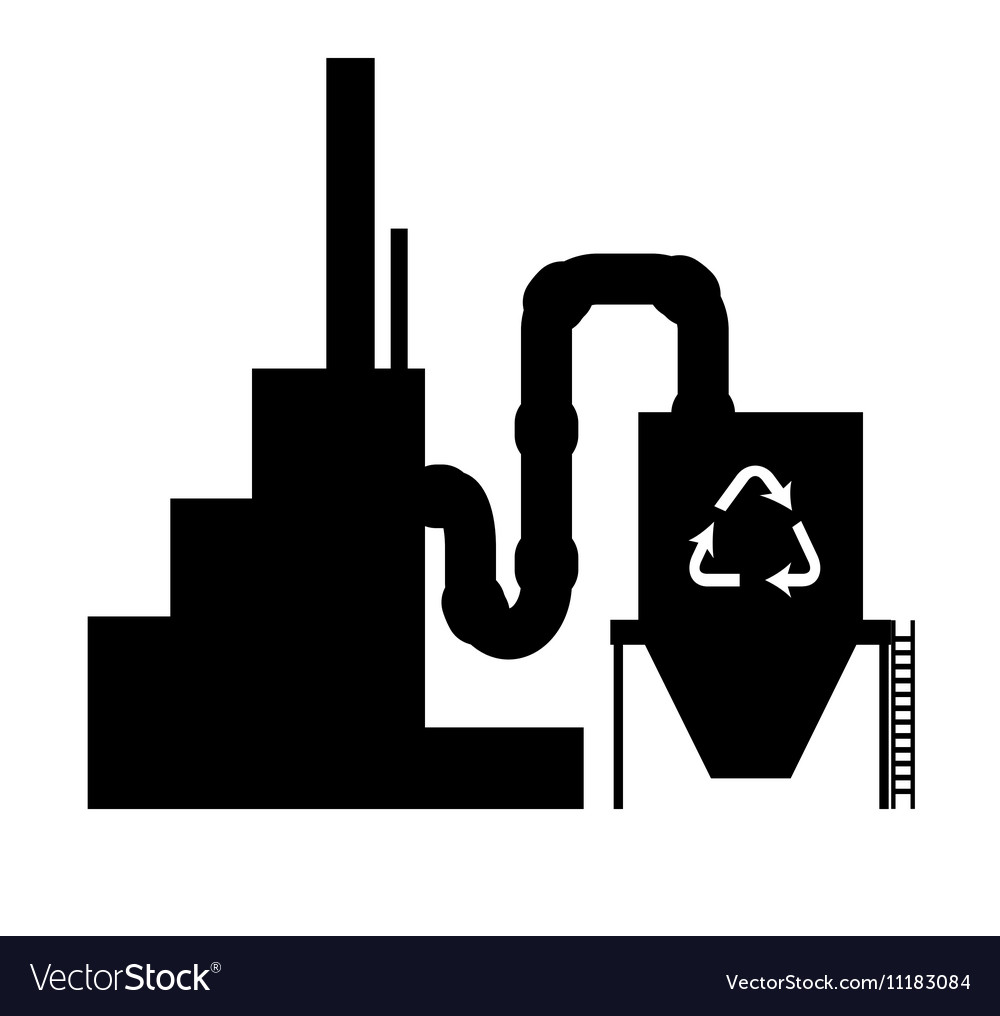 Industry icon silhouette recycling plant