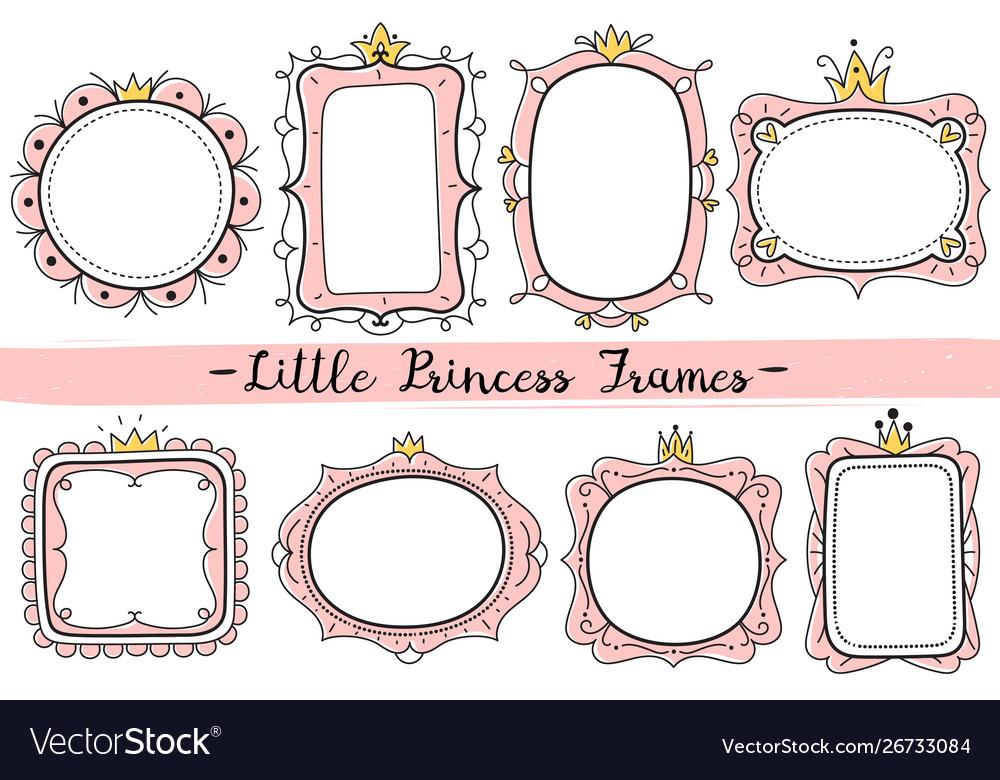 Little princess frames pink cute mirrors frame