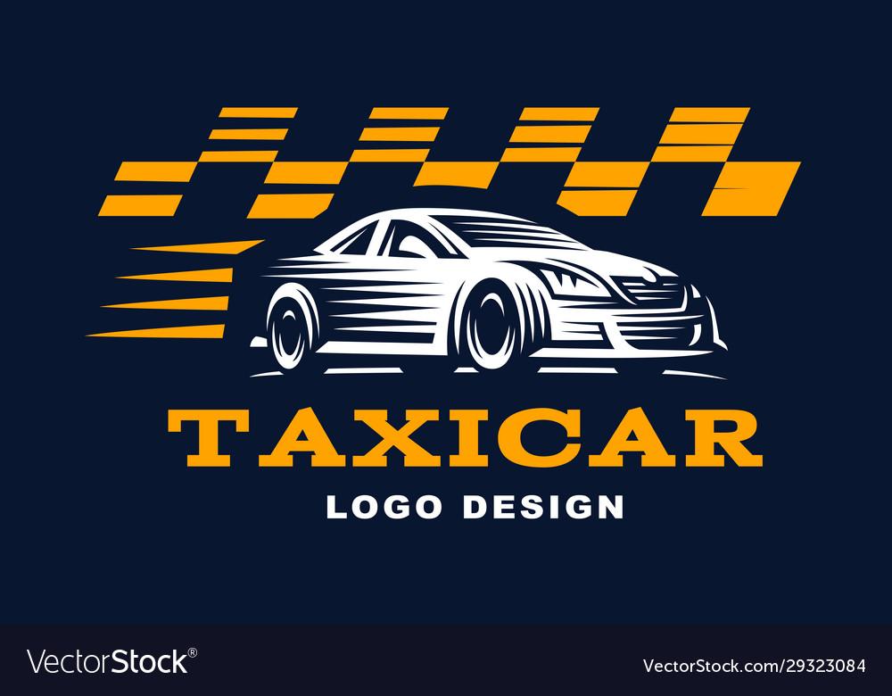 Modern taxi cab logo for company
