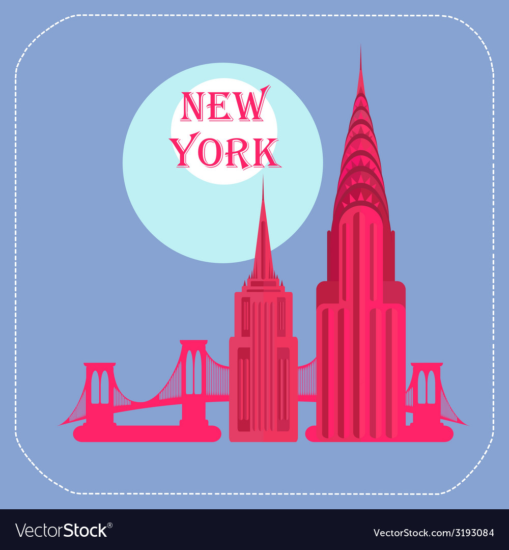New York Empire State Building Chrysler Building