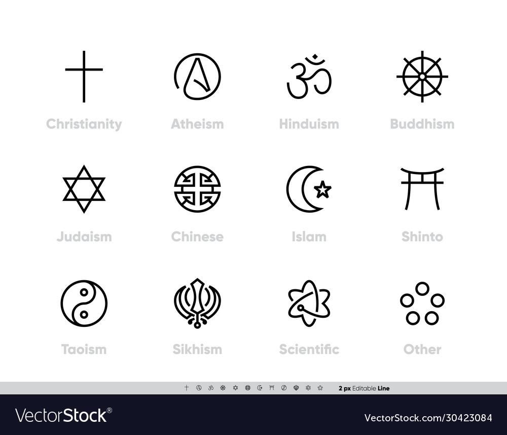 Religious tradition symbols set christianity