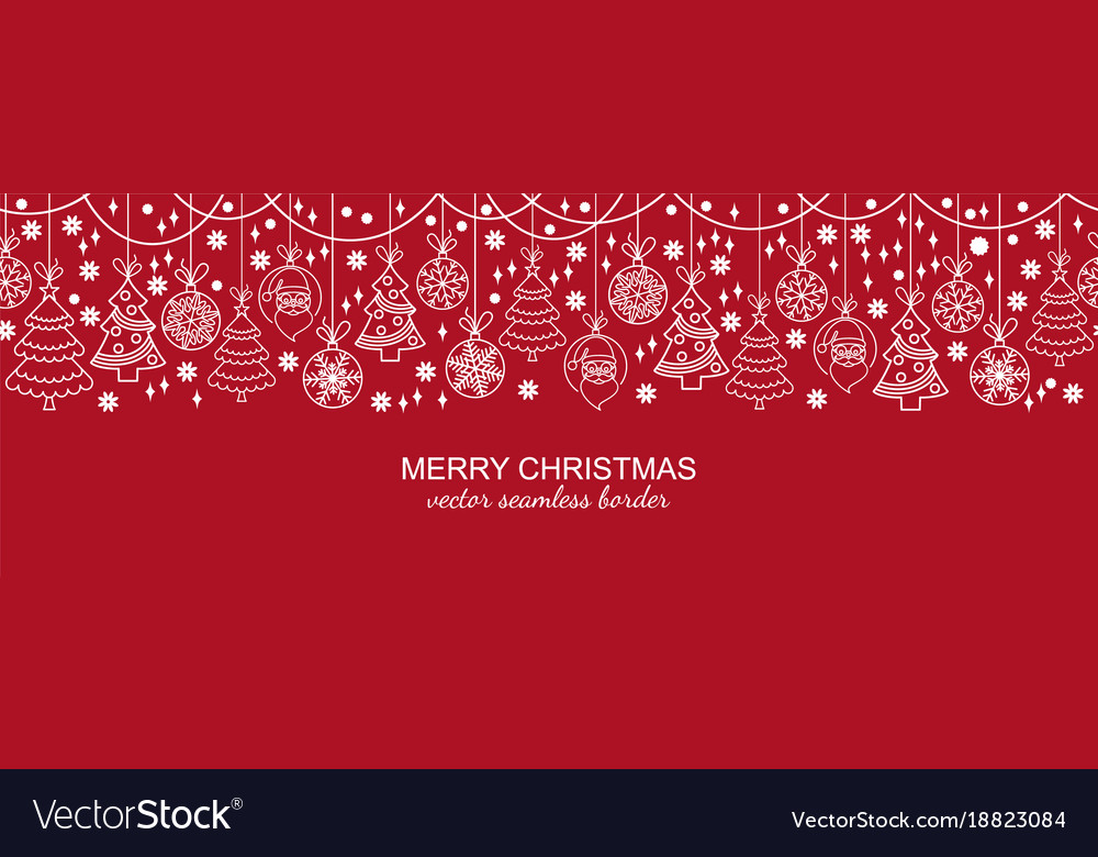 Christmas Header.White And Red Seamless Snowflake Header Christmas