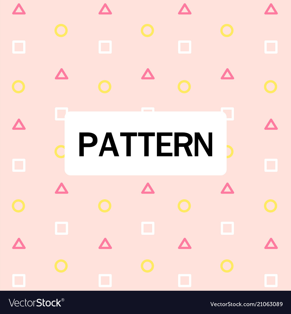 Abstract circle triangle square pattern pink backg
