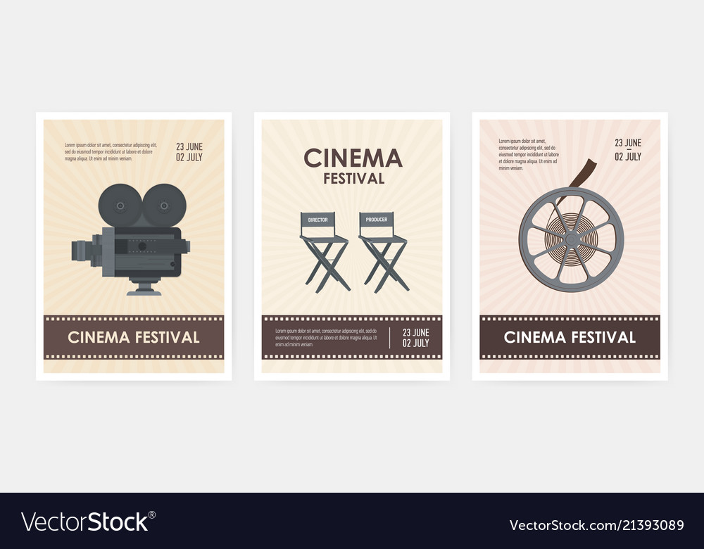 Bundle of vertical flyer or poster templates with