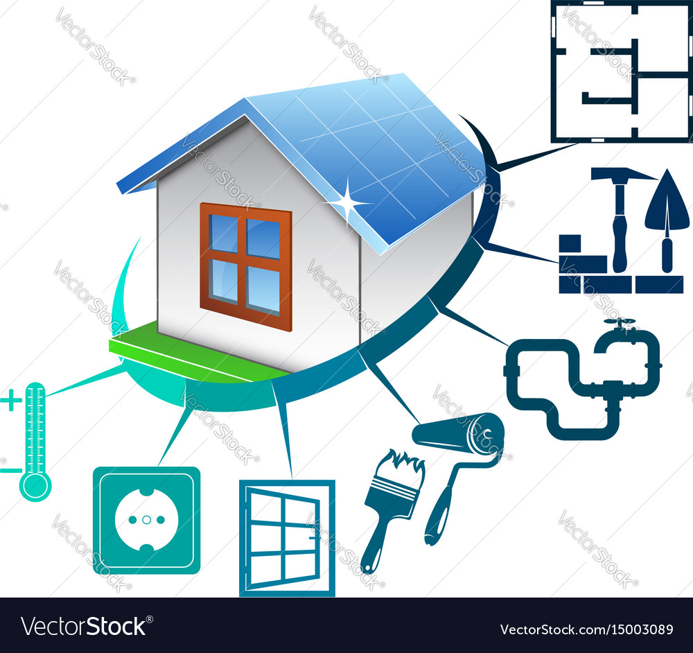 House construction concept vector image