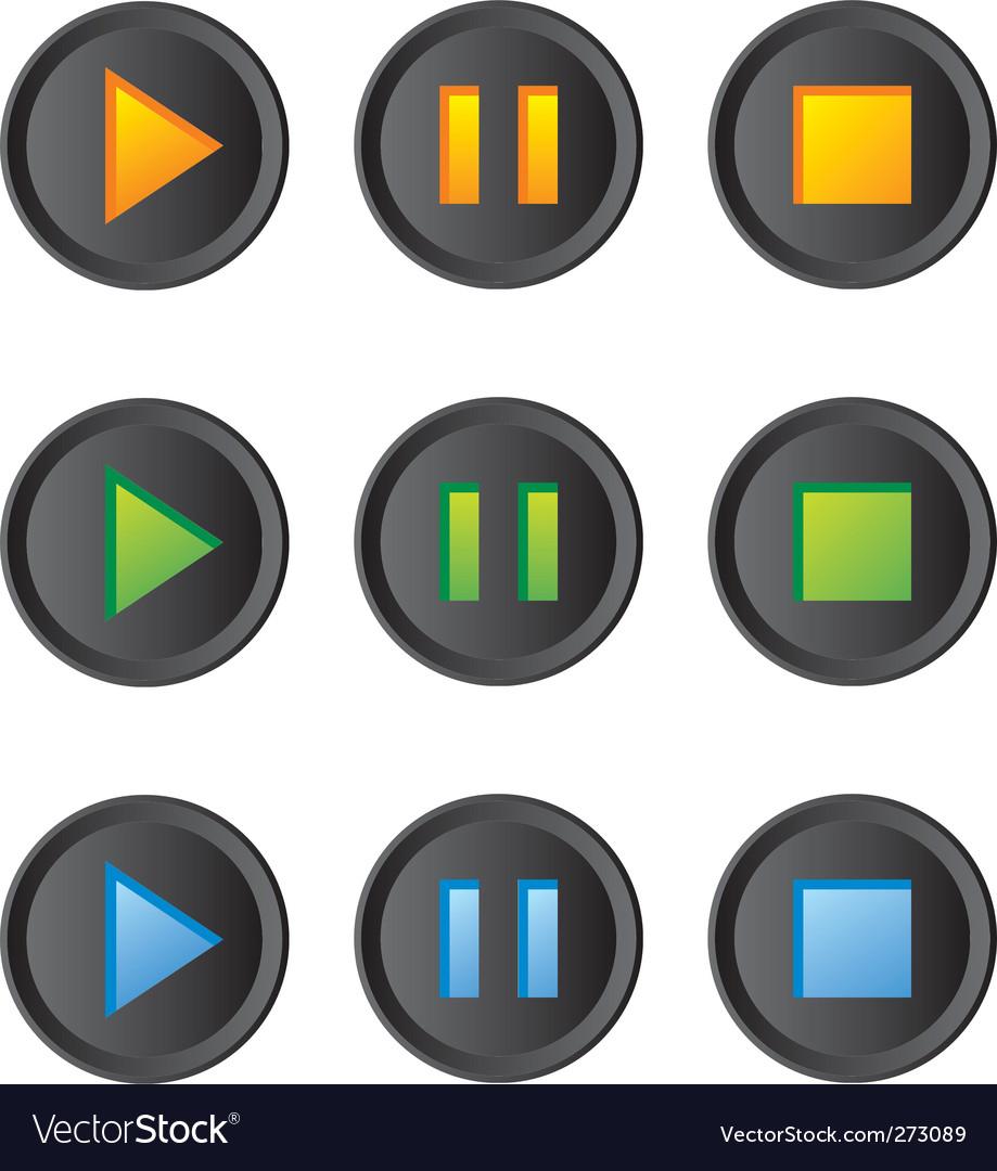 Music player buttons set