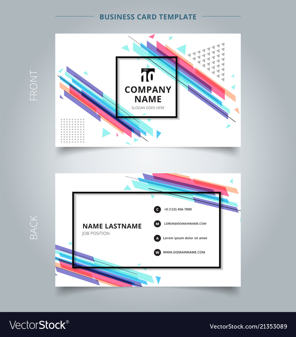 Namecard template colorful geometric pattern