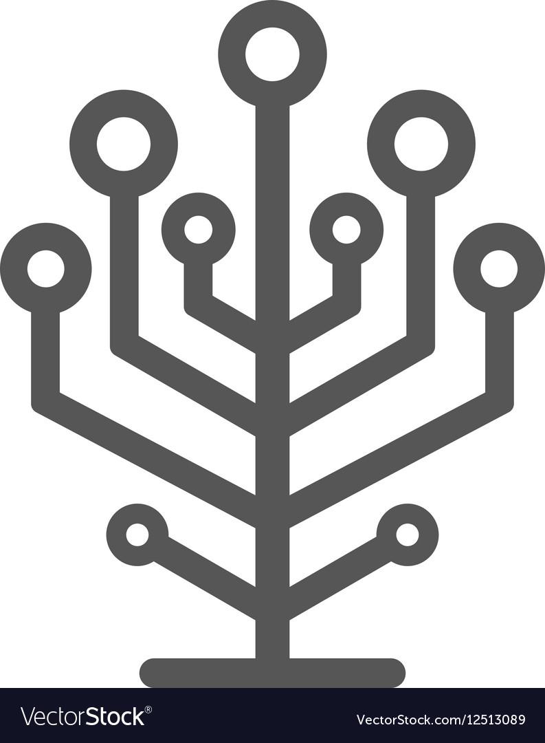 Network tree icon vector image