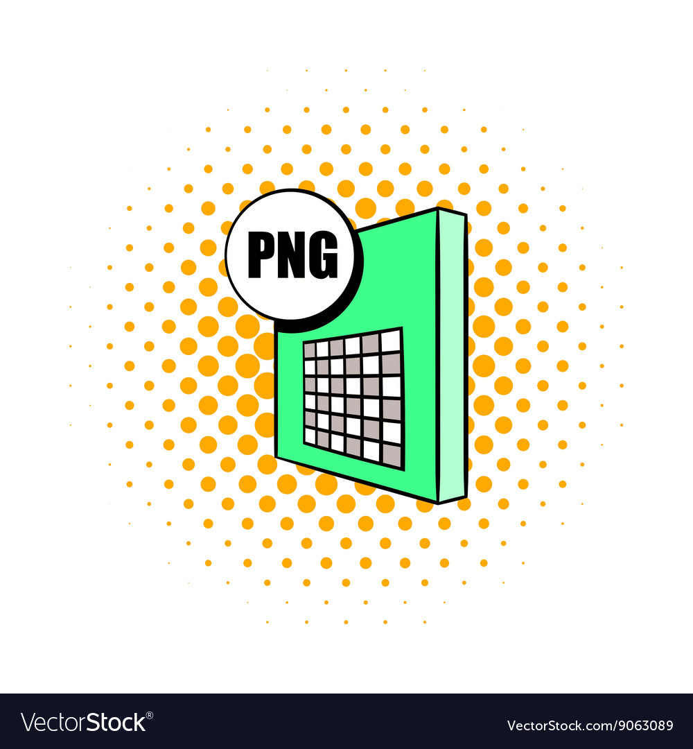 PNG file icon in comics style vector image