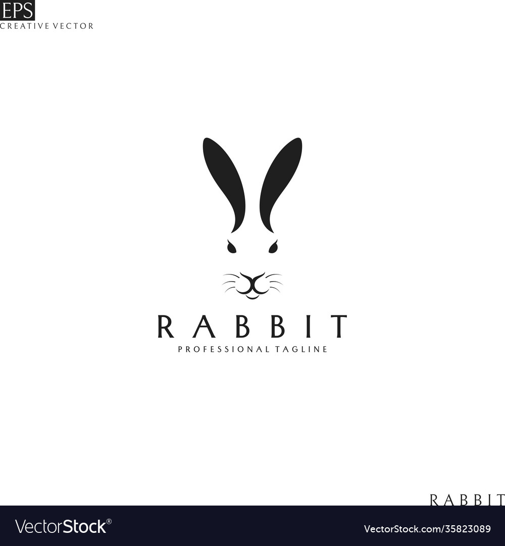 Rabbit head logo template