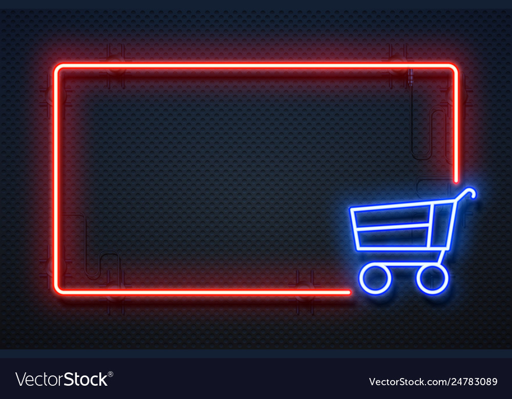 Supermarket neon sign hypermarket light banner