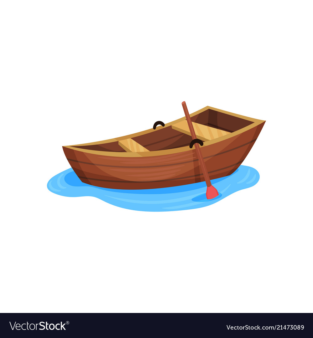 Wooden Fishing Boat On A White Royalty Free Vector Image