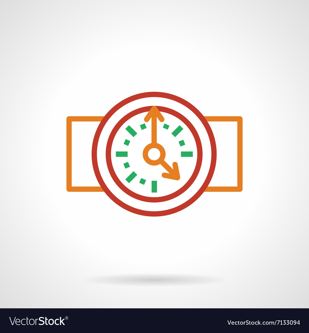 Color simple line wall clock icon