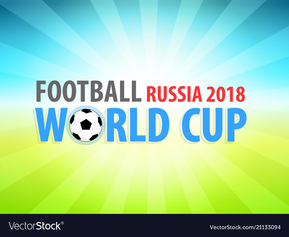 Football world cup in russia 2018 banner