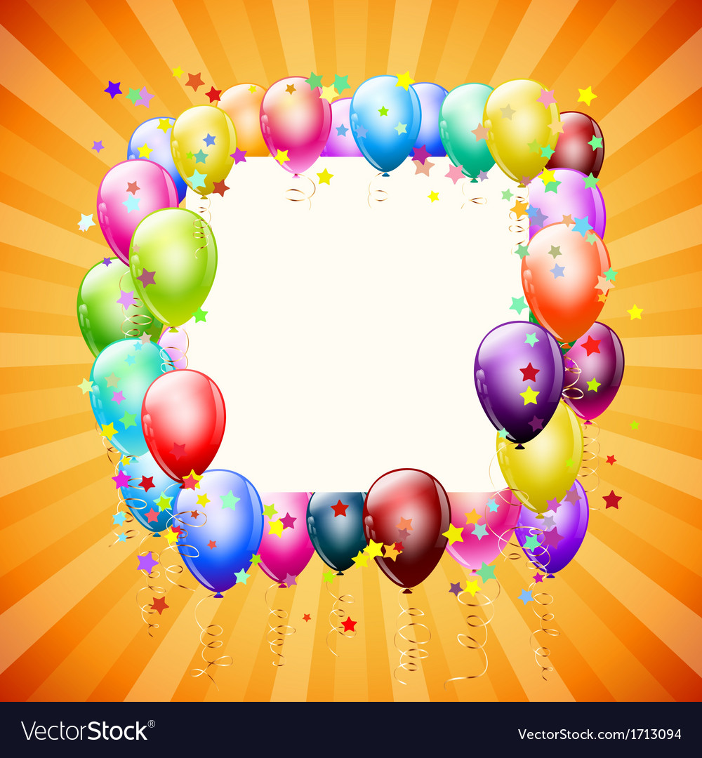 Frame with balloons