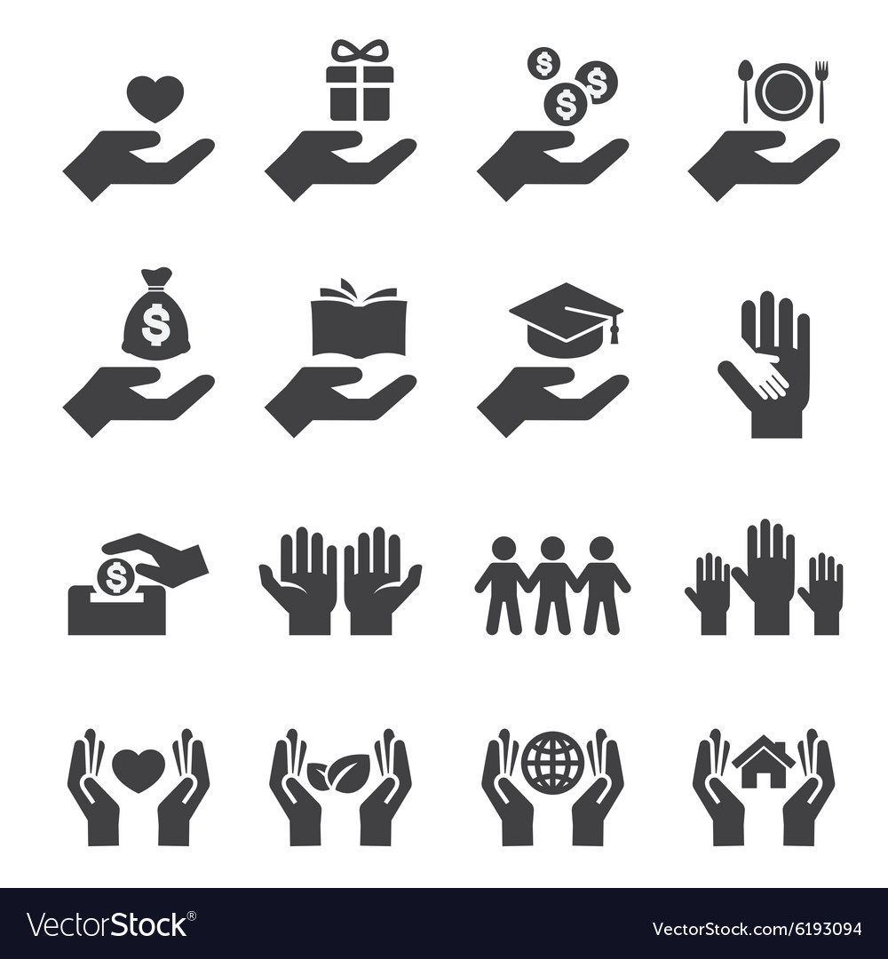Give and protect icon vector image