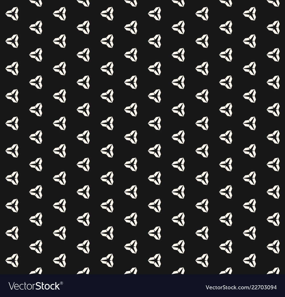 Minimalist black and white seamless pattern with