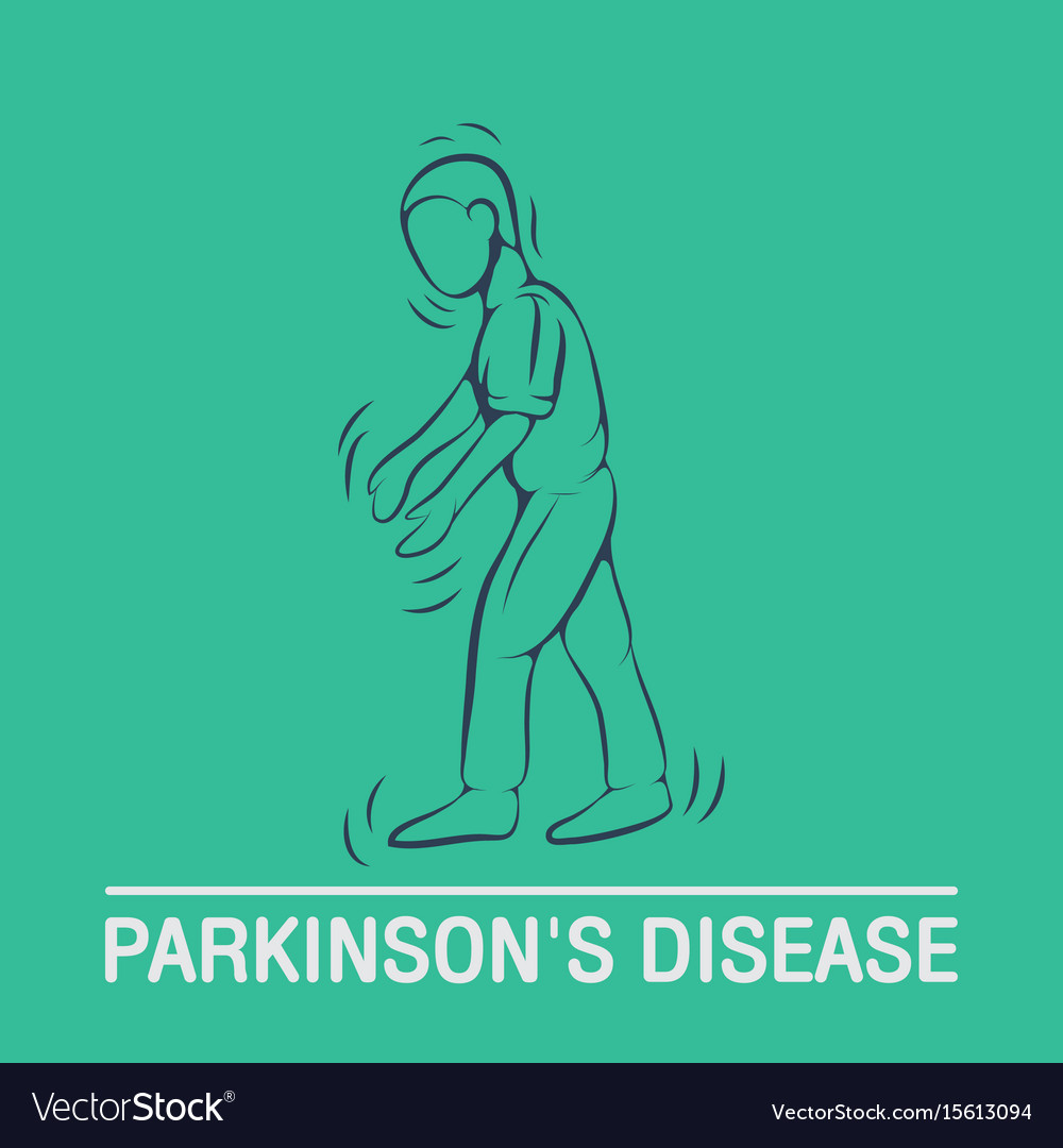 Parkinsons disease logo icon design template vector image