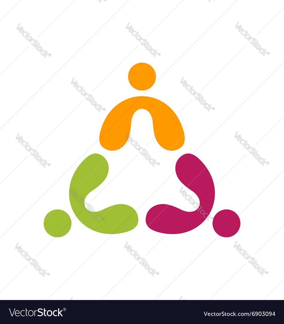 People teamwork logo education group symbol icon
