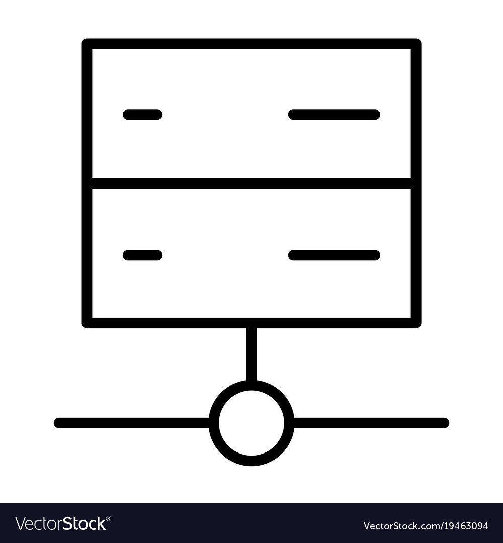 Server line icon simple minimal 96x96 pictogram