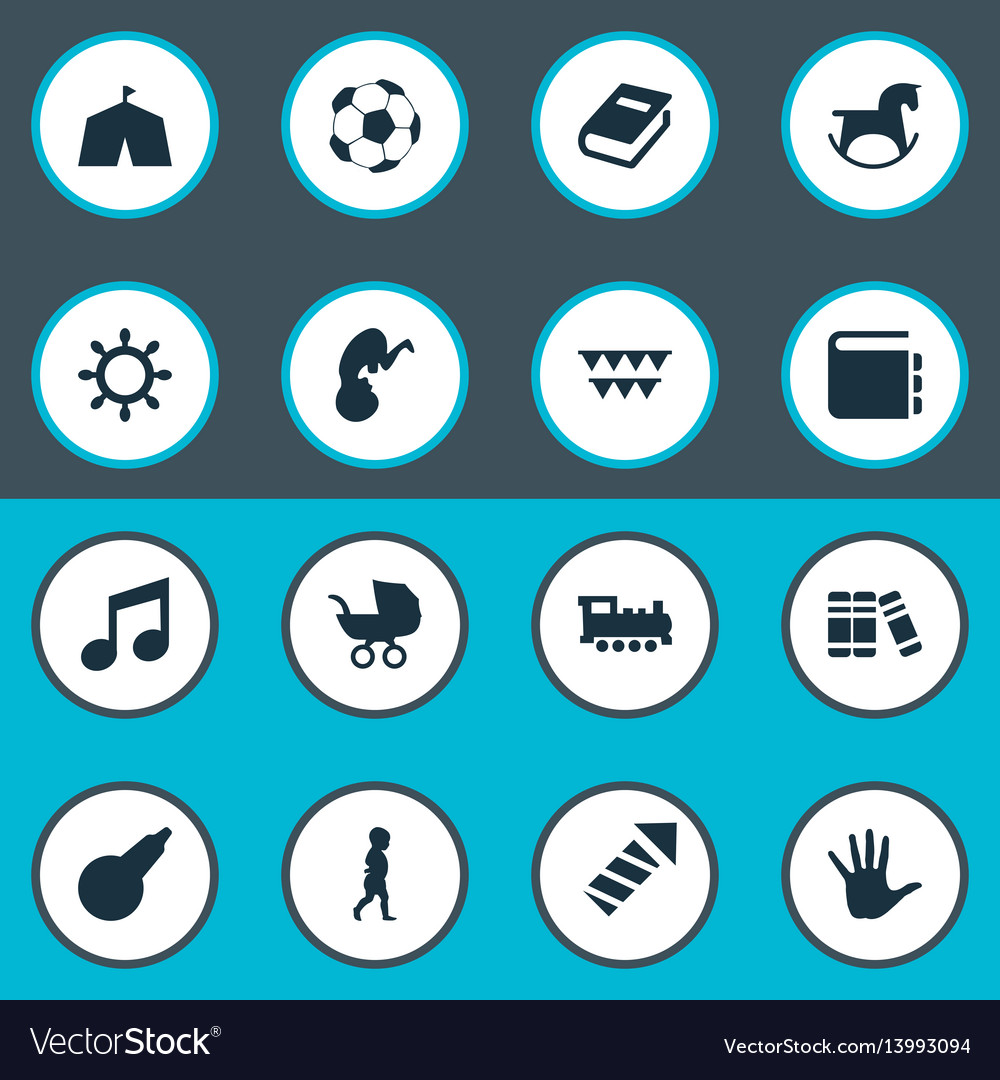 Set of simple baby icons