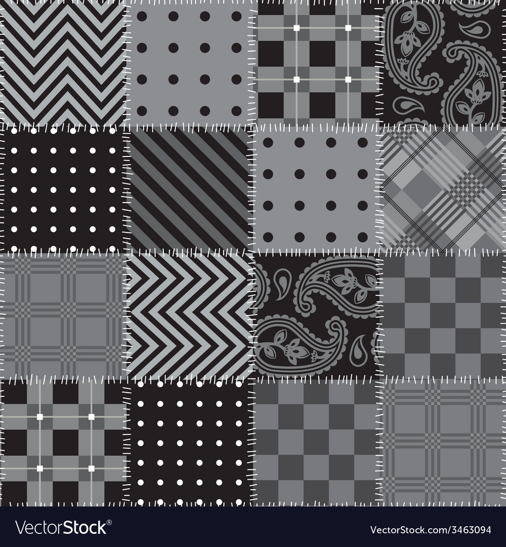 Square Patchwork Pattern Royalty Free Vector Image