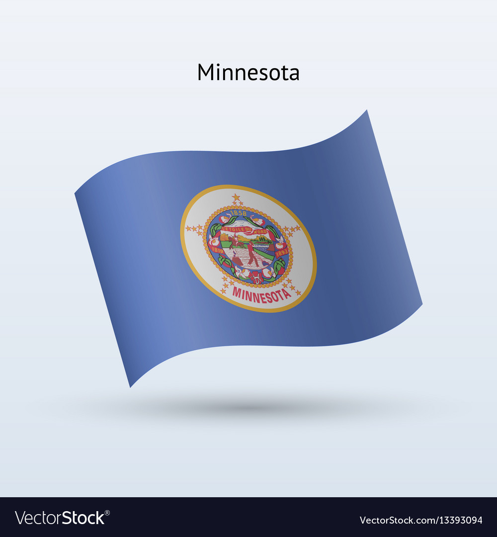 State of minnesota flag waving form