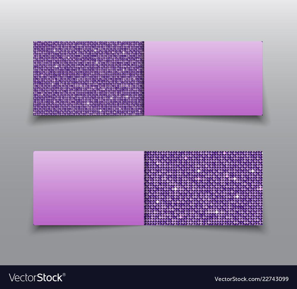 Banner purple sequin mosaic sequin glitter sparkle