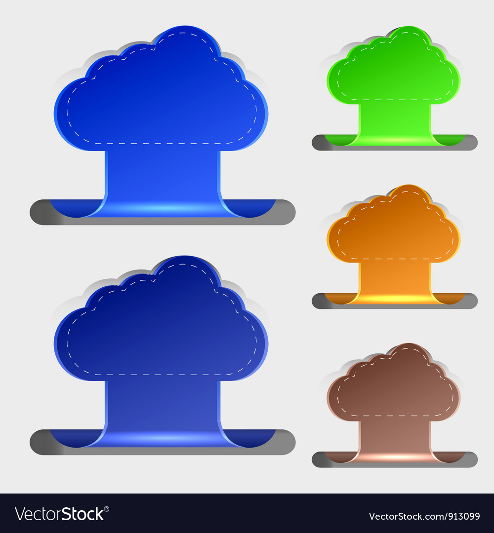 Computer clouds bookmarks