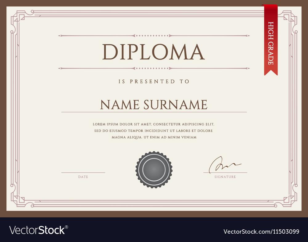 Diploma or Certificate Premium Design Template in