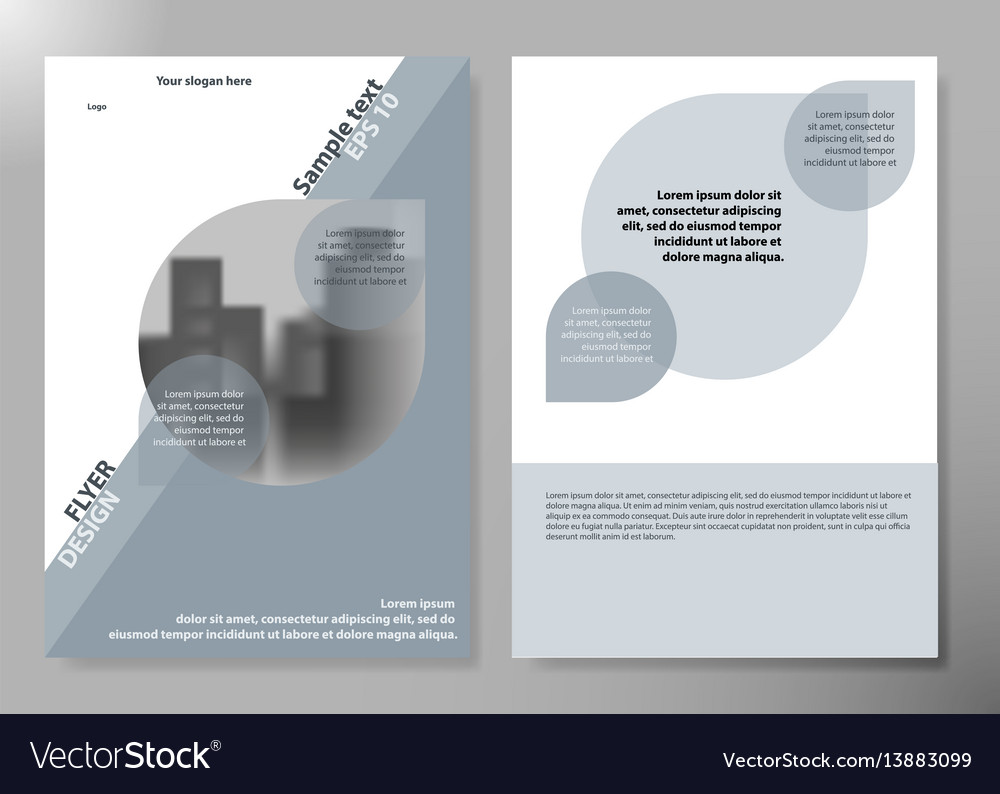 Inimal flyers report business magazine poster vector image